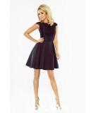 czarna, rozkloszowana sukienka - numoco