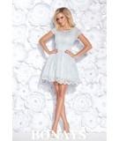Szara koronkowa sukienka bicotone