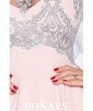 Koktajlowa sukienka bez rękawów - Doris - granatowa