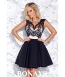 Czarna sukienka koktajlowa - Bicotone model 2156