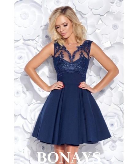 Granatowa sukienka Bicotone model 2156
