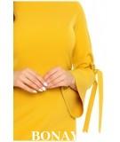 Sukienka z wiązanymi rękawami OLGA - chabrowa