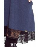 trapezowa sukienka granatowa z koronka reina