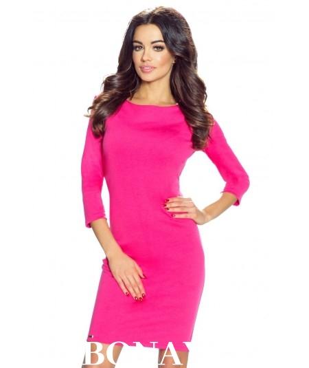 Klasyczna sukienka dzienna malinowa - Tessa