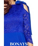 Chabrowa koronkowa sukienka Bergamo