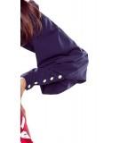 Koszula PATI z kokardą - granatowa