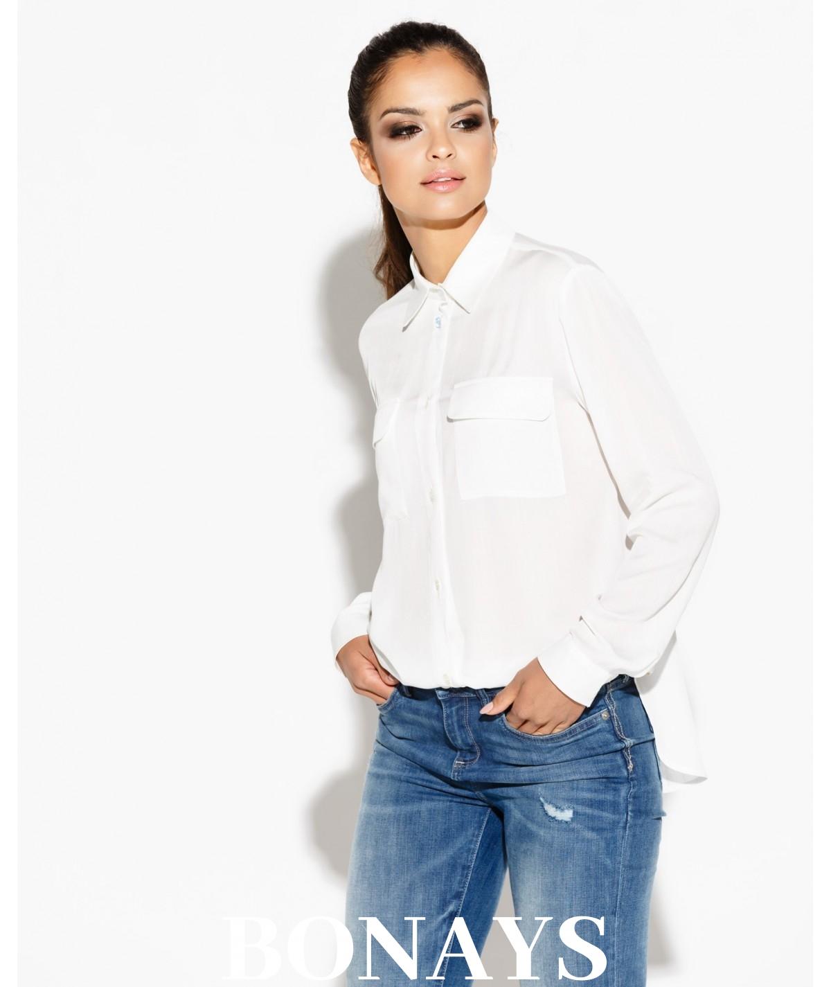elegancka koszula - Talia - Dursi biała