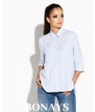 Elegancka koszula damska Talia - Dursi blękit