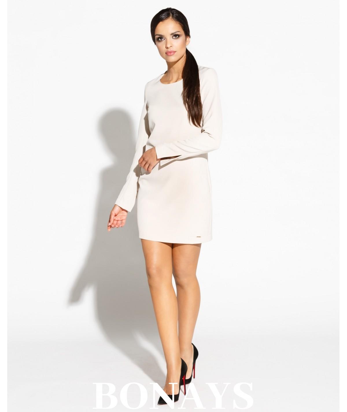 Bezowa sukienka MIKO - producent Dursi