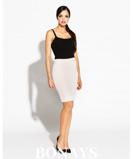 Dopasowana spódnica elegancka - Bellis - beżowa