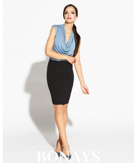 Dopasowana spódnica elegancka - Bellis - czarna