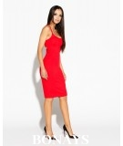 Dopasowana sukienka - wycięte plecy - Roxet - czerwona