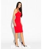 czerwona dopasowana sukienka Dursi