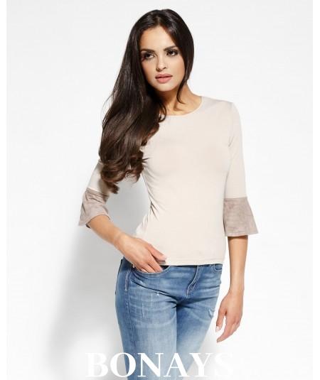Elegancka bluzka Torro - beżowa