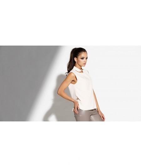 Elegancka bluzka z hokerem Dursi rózowa