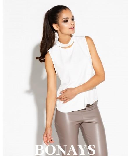 Elegancka bluzka na ramiączkach SITI - ecru