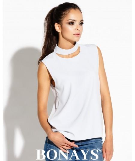 Elegancka bluzka na ramiączkach SITI - jasno-szara