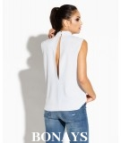 Elegancka bluzka na ramiaczkach Siti Dursi szara