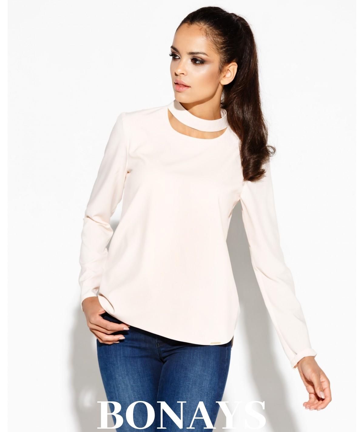 Elegancka bluzka SITIVI - rózowa - Dursi