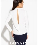 Elegancka bluzka SITIVI długi rękaw - ecru