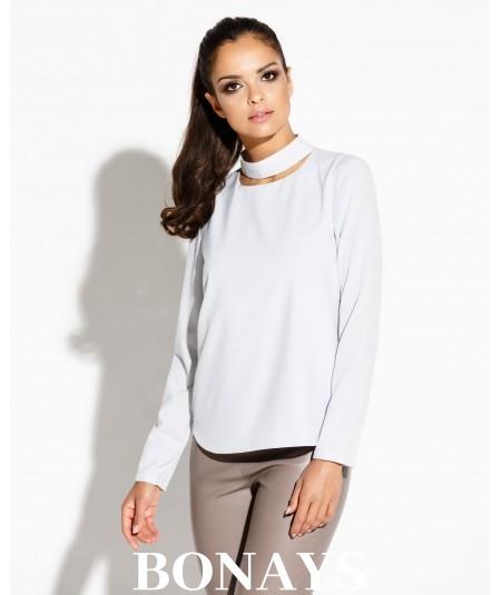 Elegancka bluzka szara Sitivi - DURSI