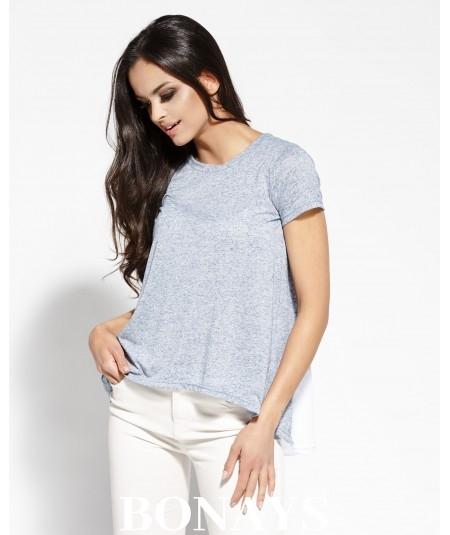 Luźna bluzka damska Duni - niebieska