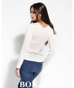 bluzka z zakładkami dursi w kolorze ecru