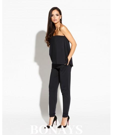 Eleganckie czarne spodnie SINS - Dursi