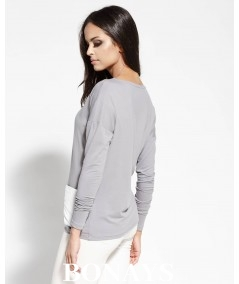 szara bluzka damska z kieszonkami Dursi