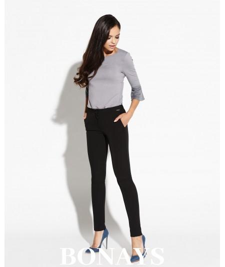 Dopasowane spodnie damskie Tiny - długie czarne