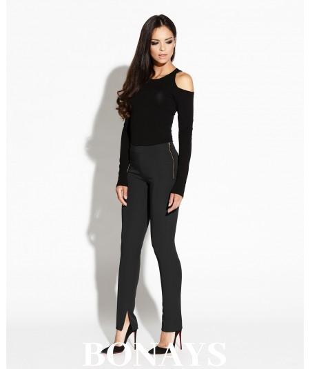 Eleganckie spodnie Pierre - czarne