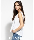 Elegancka luxna bluzka Sense - szara - Dursi
