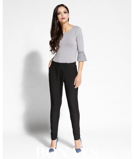 Spodnie Selen z zakładką - czarne