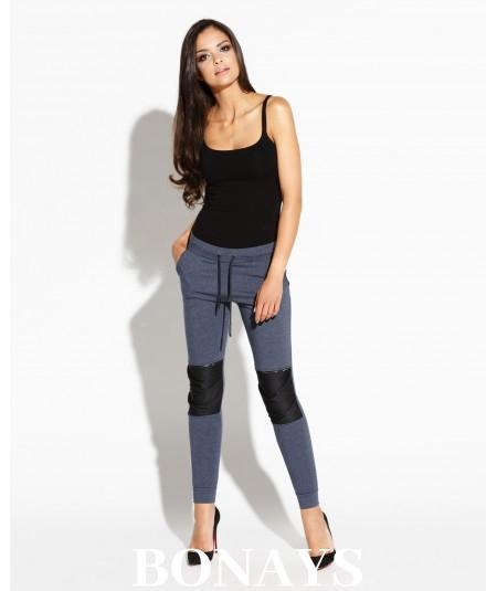 Długie spodnie dresowe - niebieskie BUSTY