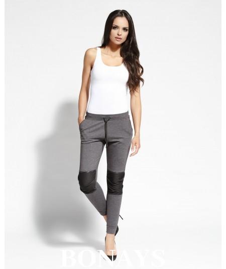 Długie spodnie dresowe - szare BUSTY