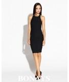 Dopasowana sukienka z odkrytymi plecami SITRU - czarna