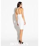 Dopasowana sukienka z odkrytymi plecami SITRU - ecru