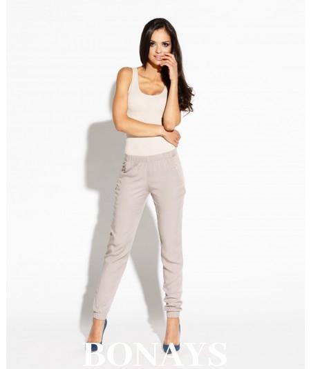 Długie spodnie z kieszeniami Conny - bezowe