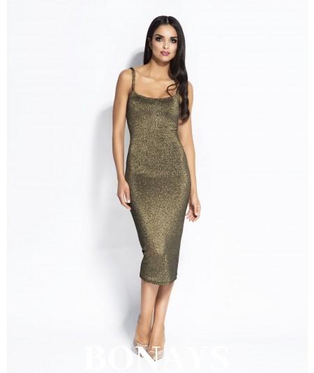 Sukienka MIDI Charme - złota