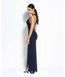 Długa sukienka Giselle granatowa - Dursi