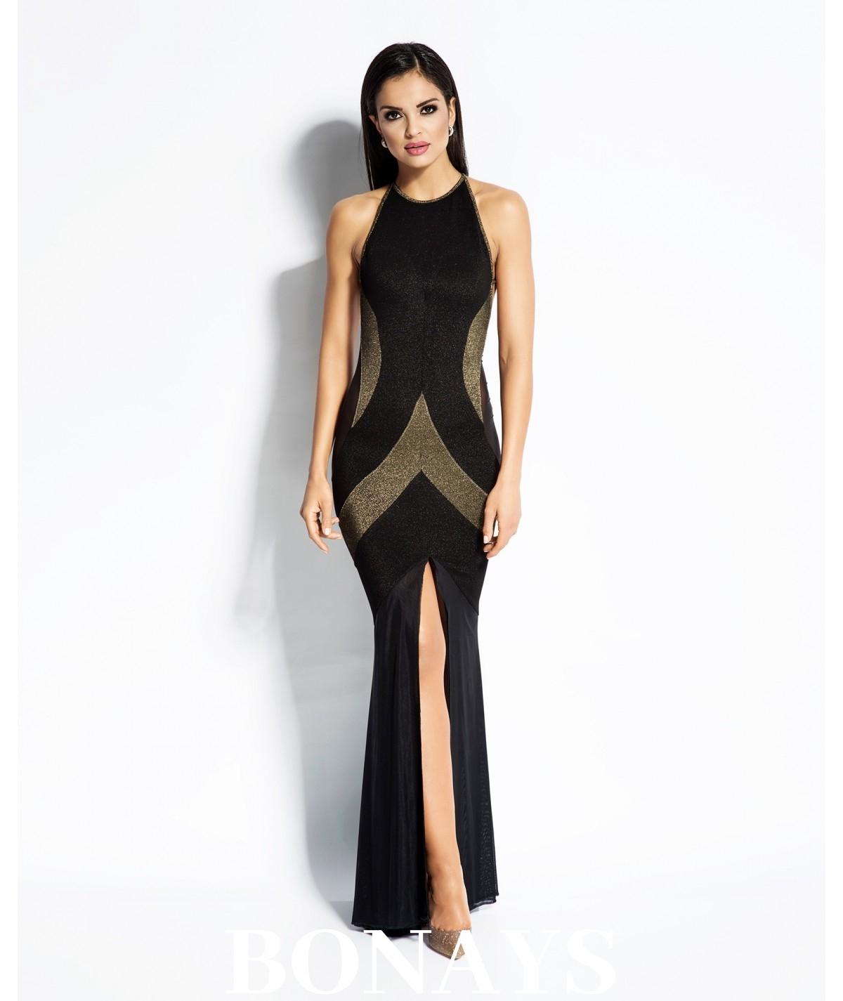 173c3c5b70 Sukienka wieczorowa Michelle - czarno-złota