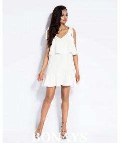 Biała letnia sukienka Dursi LIA