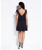 Sukienka Lia - granatowa na ramiączkach