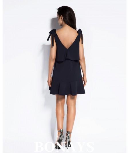 czarna sukienka na plaże - Duri LIa