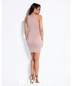 rózowa dopasowana sukienka seksowna dursi