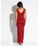 Bordowa sukienka maxi - Dursi Bella