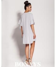 luźna szara sukienka Lila marki Dursi