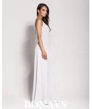 Szara sukienka maxi na studniówke Dursi