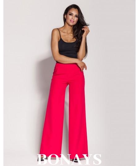 Eleganckie spodnie Gubbi - malinowe