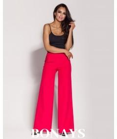 Malinowe eleganckie spodnie typu szwedy z kieszeniami GUBBI